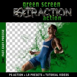 Green Screen Extraction Action for Photoshop Fast Easy Quick Precise Background Removal