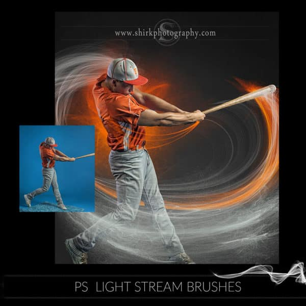 light stream photoshop brushes baseball swing game changers by shirk photography
