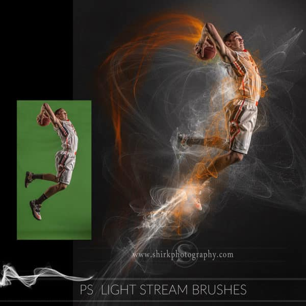 light stream photoshop brushes basketball dunk game changers by shirk photography
