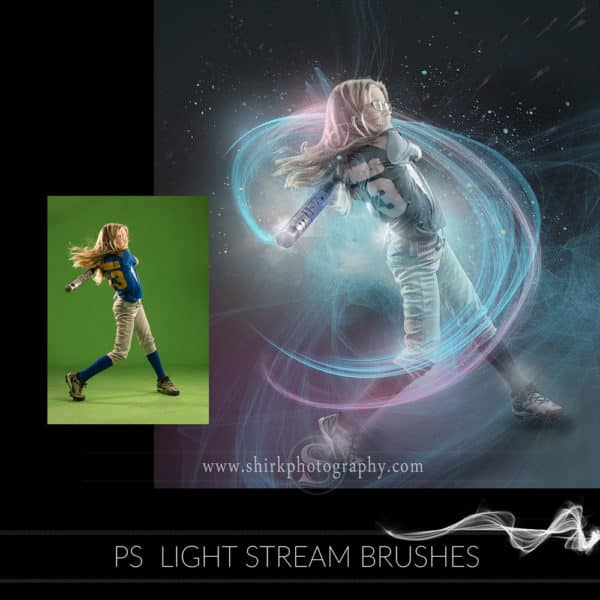 light stream photoshop brushes softball swing game changers by shirk photography