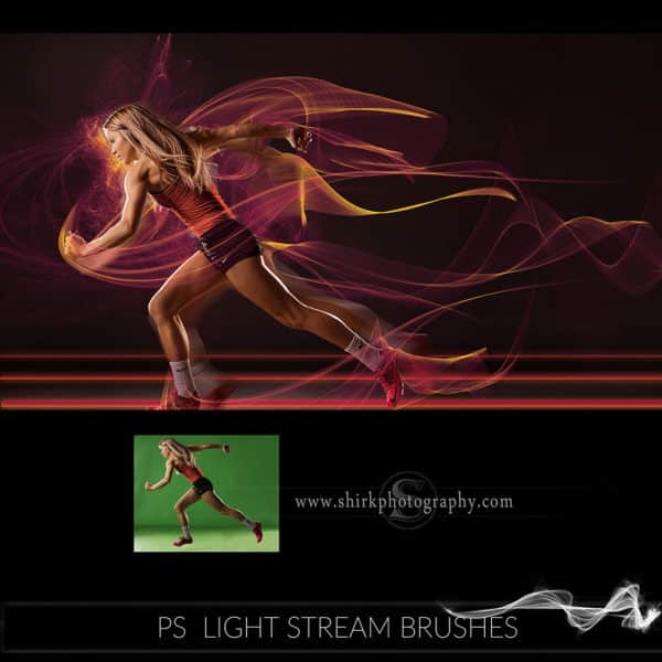 light stream photoshop brushes track girl game changers by shirk photography