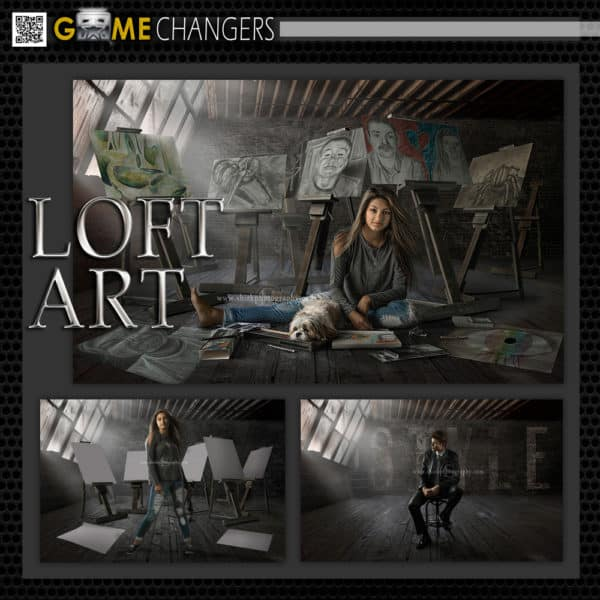 Loft Art Photoshop Template