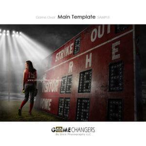 Game Over Softball Main Photoshop Template