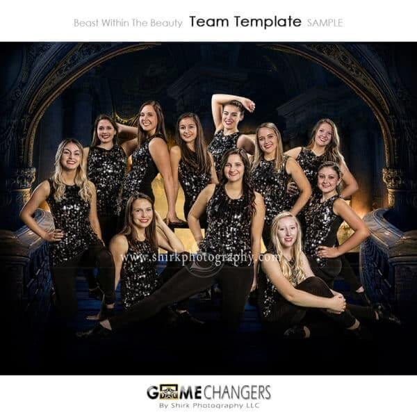 Castle Archway Dance Sports Team Photoshop Template: Digital Background for Photographers