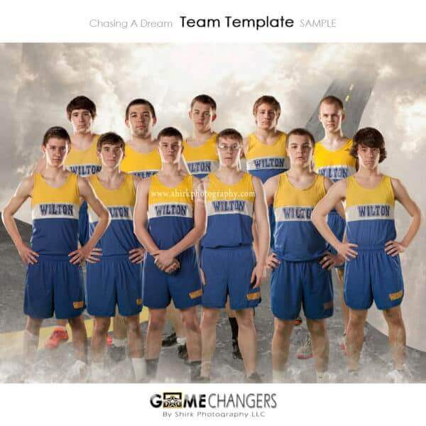 Road Sky Clouds Dream Cross Country Track Sports Team Photoshop Template: Digital Background for Photographers