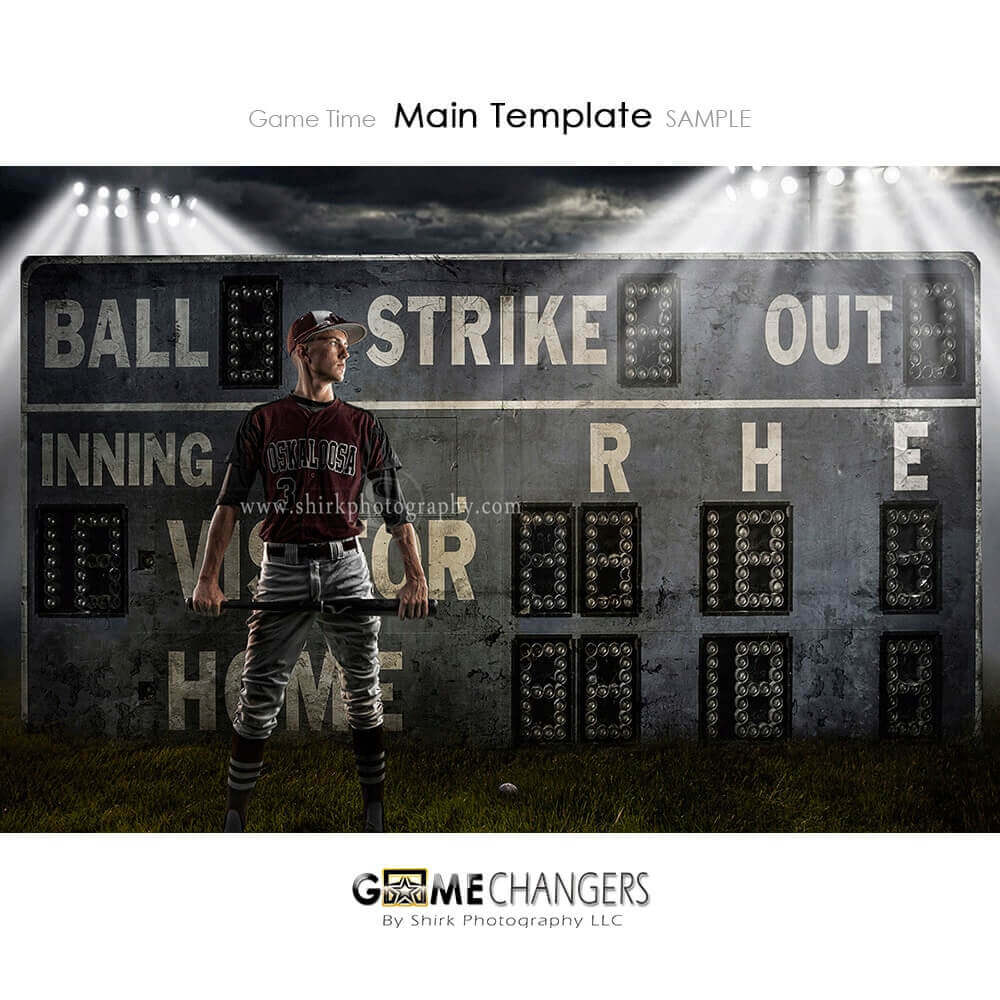 Game Time Softball Photoshop Template ⋆ Game Changers by Shirk Photography  LLC