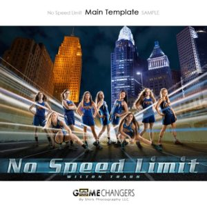 Track : No Speed Limit Photoshop Template for Photographers with City Lights
