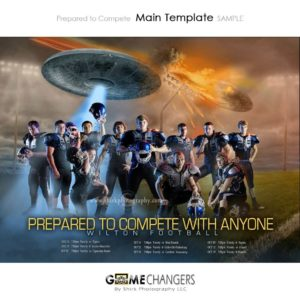 Football : Prepared to Compete with Anyone Photoshop Template Team for Photographers