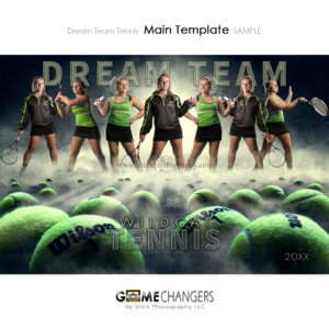 Tennis Sports Team Poster Banner Creative Dream Fog Digital Background Photoshop Template Ideas Photographers
