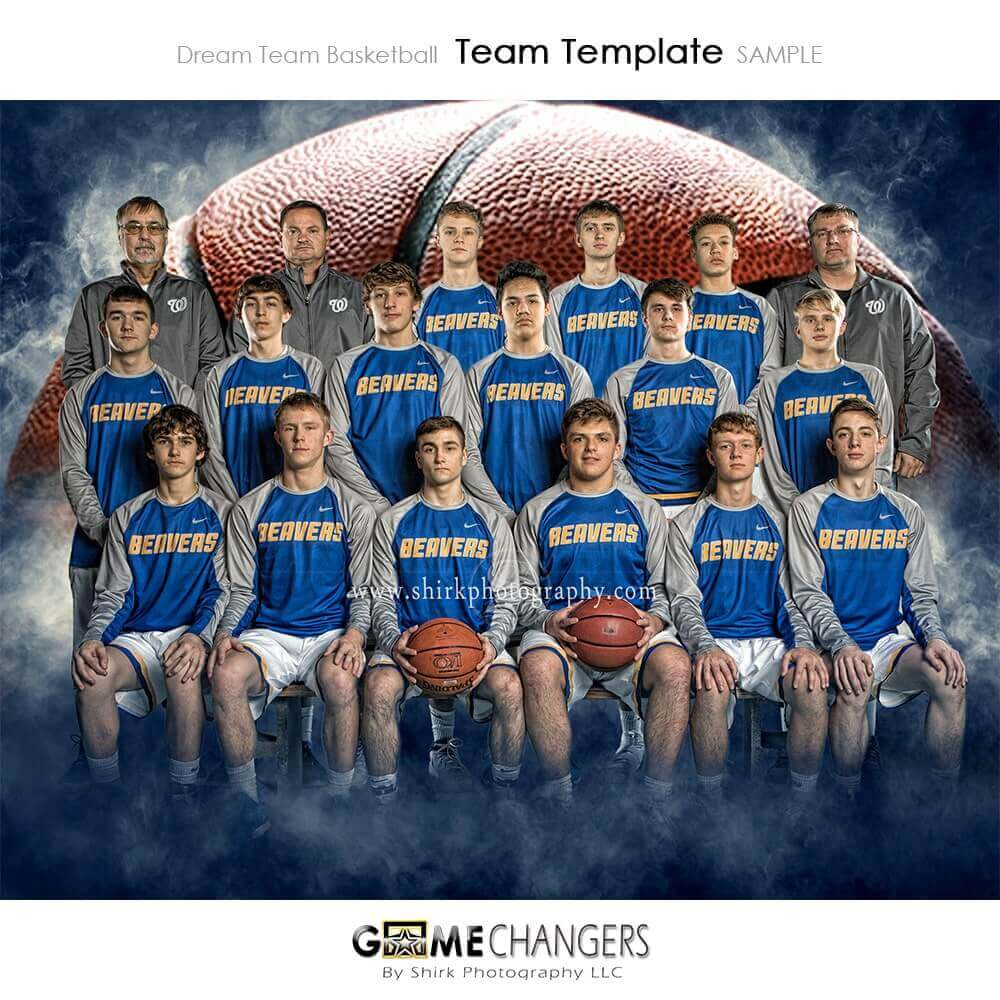 Dream Team Basketball Photoshop Template + Tutorial ⋆ Game Changers by  Shirk Photography LLC