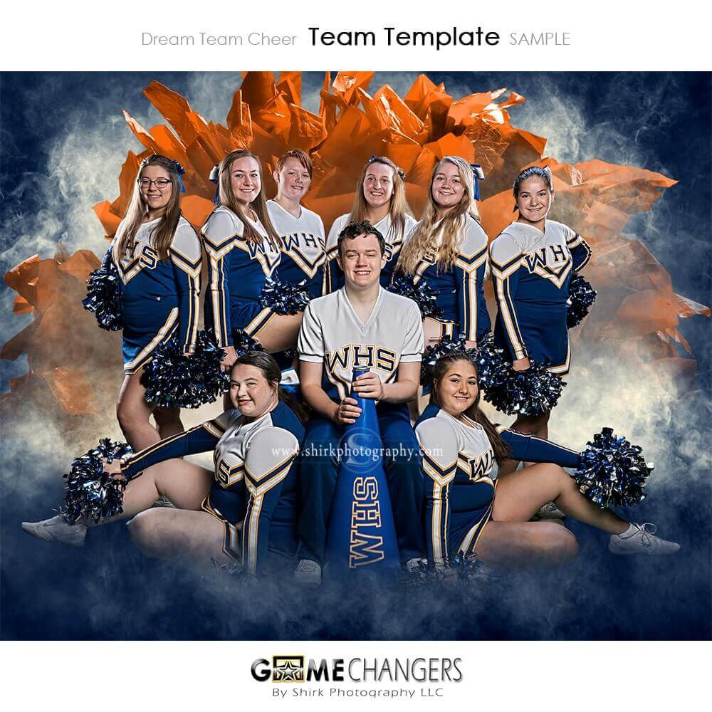 dream team cheer photoshop template   tutorial  u22c6 game