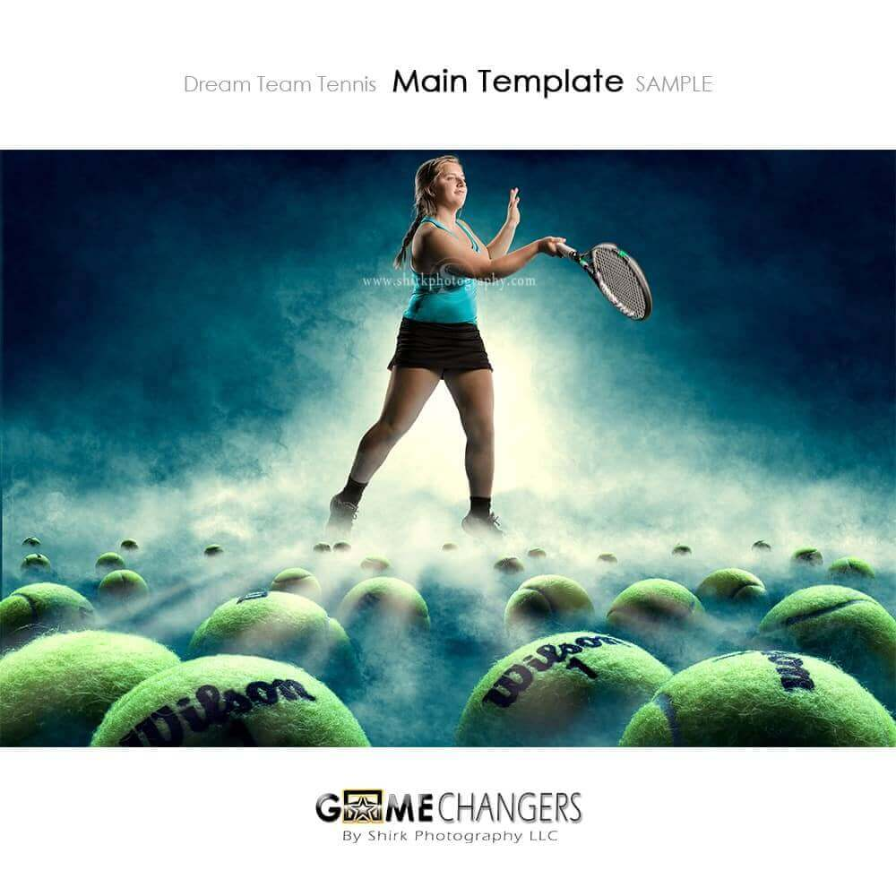Dream Team Tennis Photoshop Template Tutorial Game Changers By Shirk Photography Llc