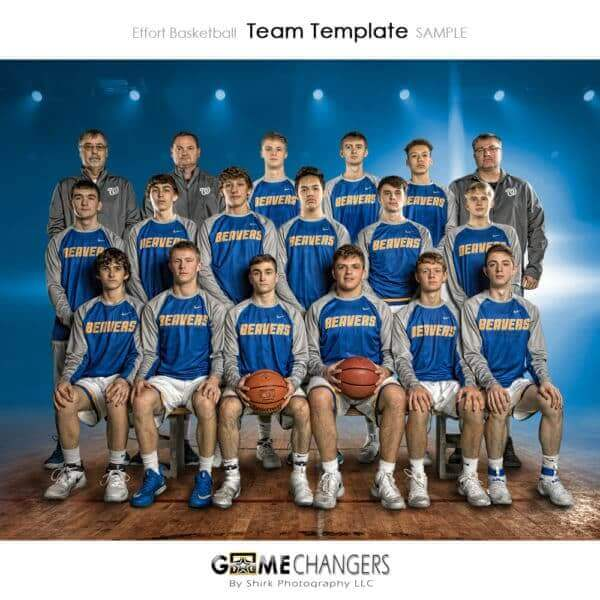 Basketball Team : Effort Photoshop Template for Photographers