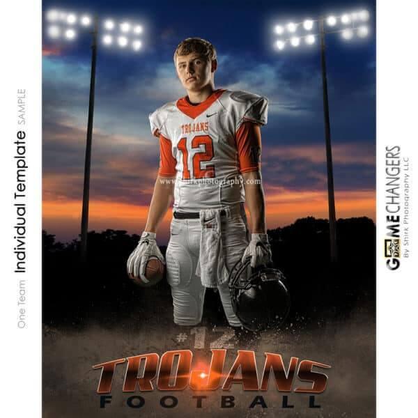 Football Photoshop Template Sports Poster Banner Creative Sunset Dirt Lights Digital Background Ideas Photographers