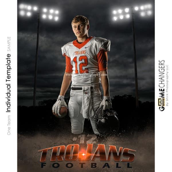 Football Photoshop Template Sports Poster Banner Creative Night Dirt Lights Digital Background Ideas Photographers
