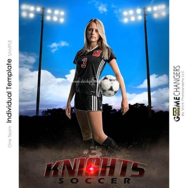 Soccer Photoshop Template Sports Poster Banner Creative Clouds Dirt Lights Digital Background Ideas Photographers