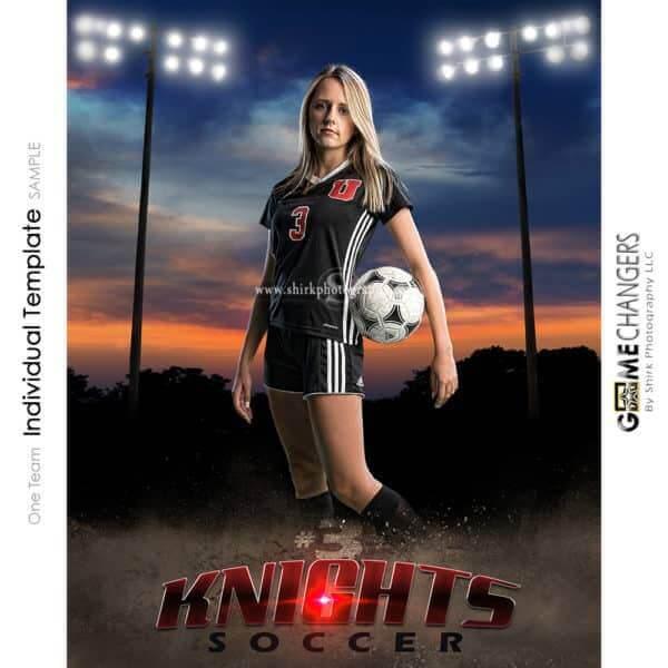 Soccer Photoshop Template Sports Poster Banner Creative Sunset Dirt Lights Digital Background Ideas Photographers