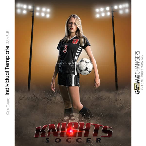 Soccer Photoshop Template Sports Poster Banner Creative Dirt Fence Lights Digital Background Ideas Photographers