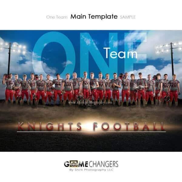 Football Photoshop Template Sports Team Poster Banner Creative Dirt Lights Clouds Digital Background Ideas Photographers