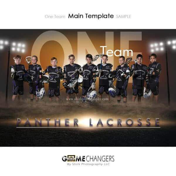 Lacrosse Photoshop Template Sports Team Poster Banner Creative Dirt Lights One Digital Background Ideas Photographers