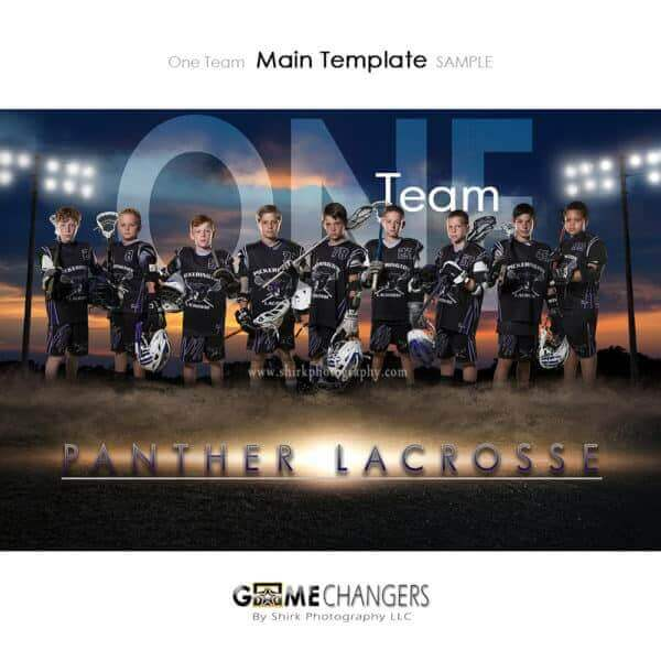 Lacrosse Photoshop Template Sports Team Poster Banner Creative Dirt Lights Sunset Digital Background Ideas Photographers