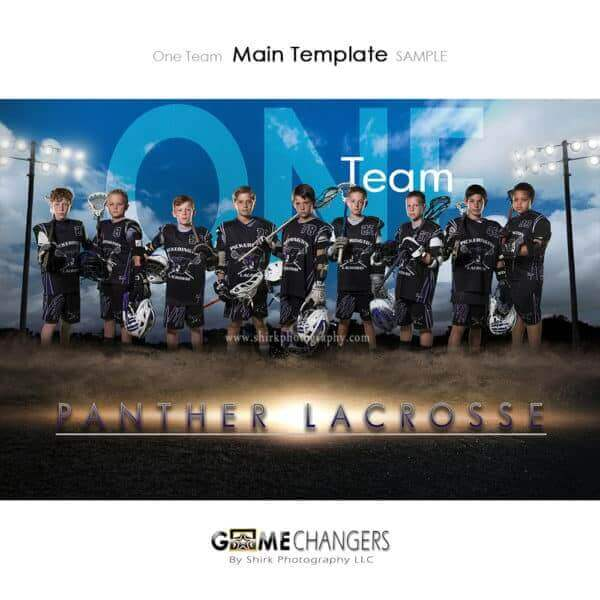 Lacrosse Photoshop Template Sports Team Poster Banner Creative Dirt Lights Clouds Digital Background Ideas Photographers