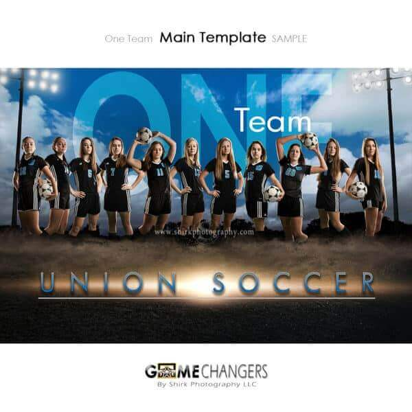 Soccer Photoshop Template Sports Team Poster Banner Creative Dirt Lights Clouds Digital Background Ideas Photographers