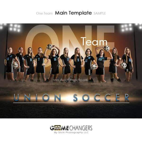 Soccer Photoshop Template Sports Team Poster Banner Creative Dirt Lights One Digital Background Ideas Photographers