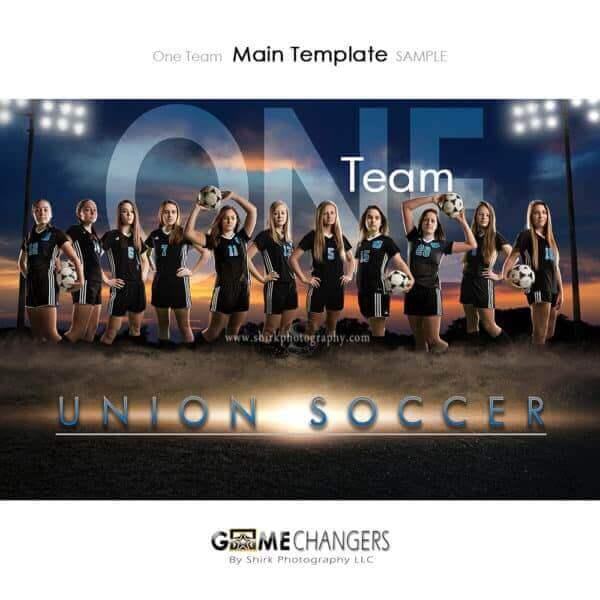 Soccer Photoshop Template Sports Team Poster Banner Creative Dirt Lights Sunset Digital Background Ideas Photographers