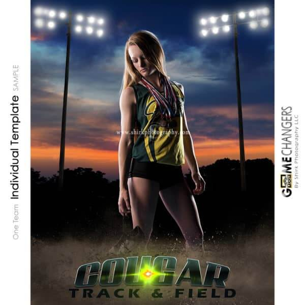 Track Cross Country Photoshop Template Sports Poster Banner Creative Sunset Dirt Lights Digital Background Ideas Photographers