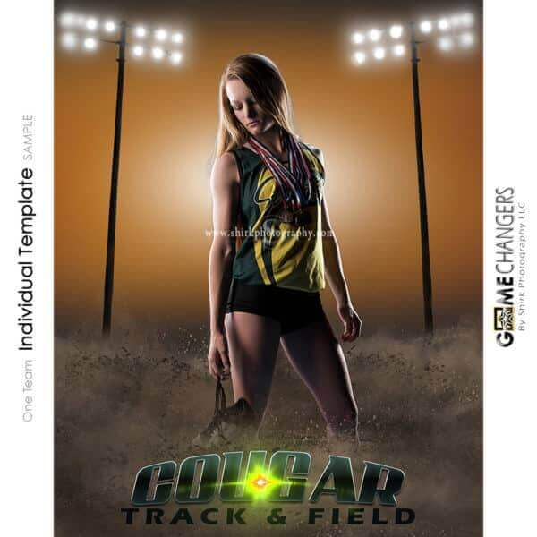 Track Cross Country Photoshop Template Sports Poster Banner Creative Dirt Lights Digital Background Ideas Photographers