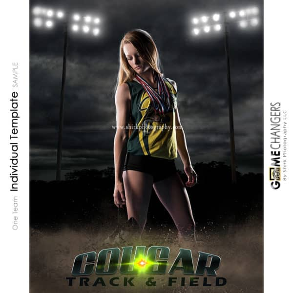 Track Cross Country Photoshop Template Sports Poster Banner Creative Night Dirt Lights Digital Background Ideas Photographers