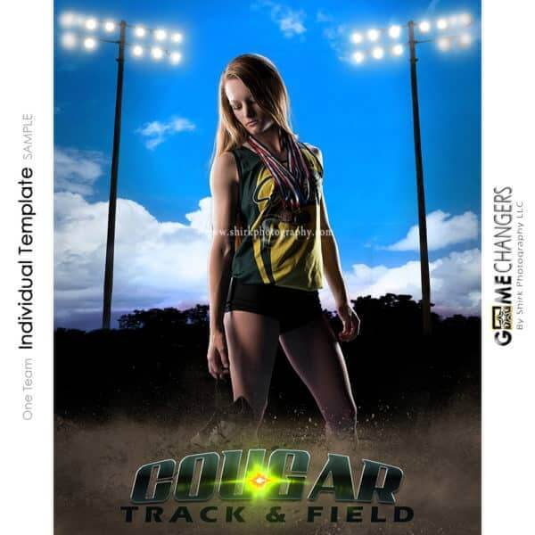 Track Cross Country Photoshop Template Sports Poster Banner Creative Clouds Dirt Lights Digital Background Ideas Photographers