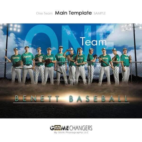 Baseball Photoshop Template Sports Team Poster Banner Creative Dirt Lights Clouds Digital Background Ideas Photographers
