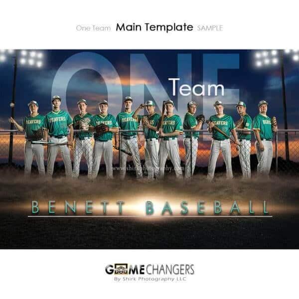 Baseball Photoshop Template Sports Team Poster Banner Creative Field Lights Sunset Digital Background Ideas Photographers