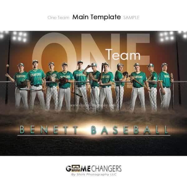Baseball Photoshop Template Sports Team Poster Banner Creative Field Lights One Digital Background Ideas Photographers