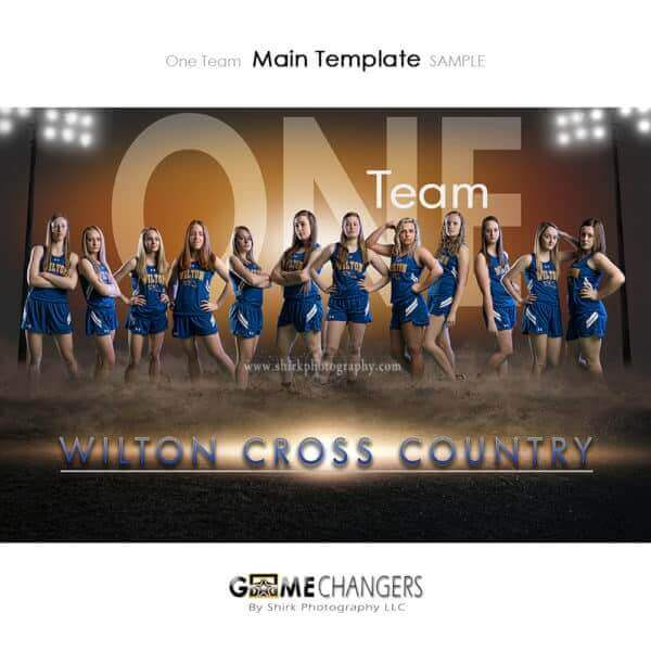 Cross Country Photoshop Template Sports Team Poster Banner Creative Dirt Lights One Digital Background Ideas Photographers