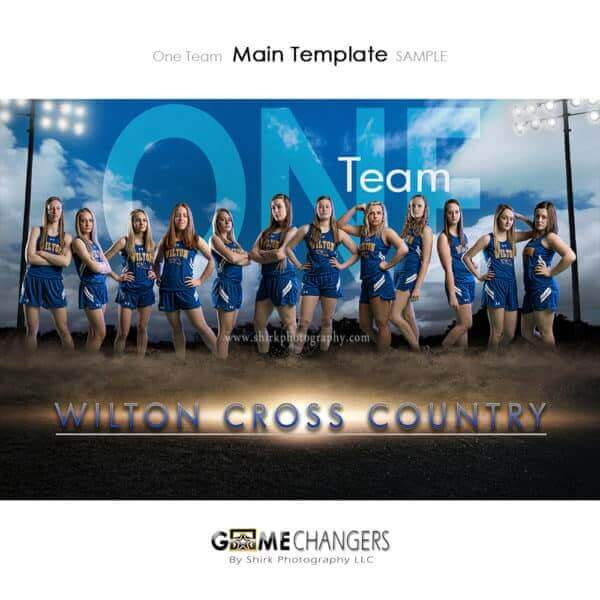 Cross Country Photoshop Template Sports Team Poster Banner Creative Dirt Lights Clouds Digital Background Ideas Photographers