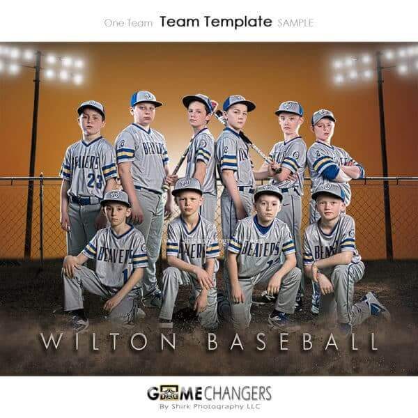 Baseball Team: One Team Photoshop Template for Photographers