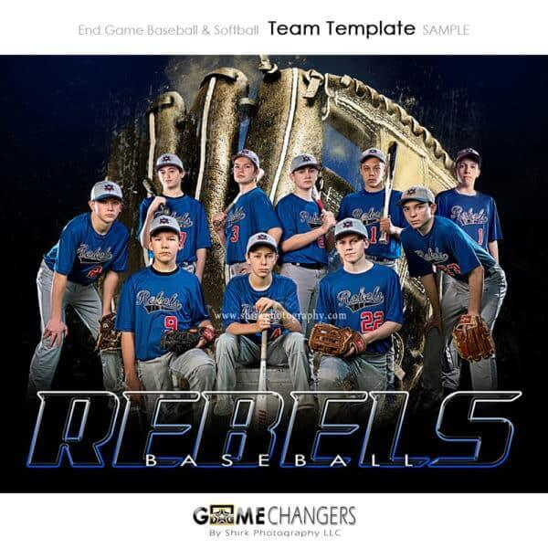 Baseball Photoshop Template Sports Team Poster Banner Creative End Game Golden Glove Digital Background Ideas Photographers