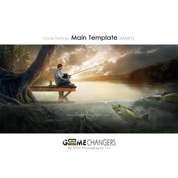 Fishing Lake Photoshop Template Sports Team Poster Banner Creative Digital Background Ideas Photographers