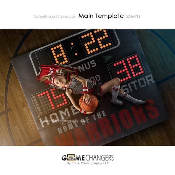 Scoreboard Takeover Basketball Photoshop Template Sports Team Poster Banner Creative Digital Background Ideas Photographers