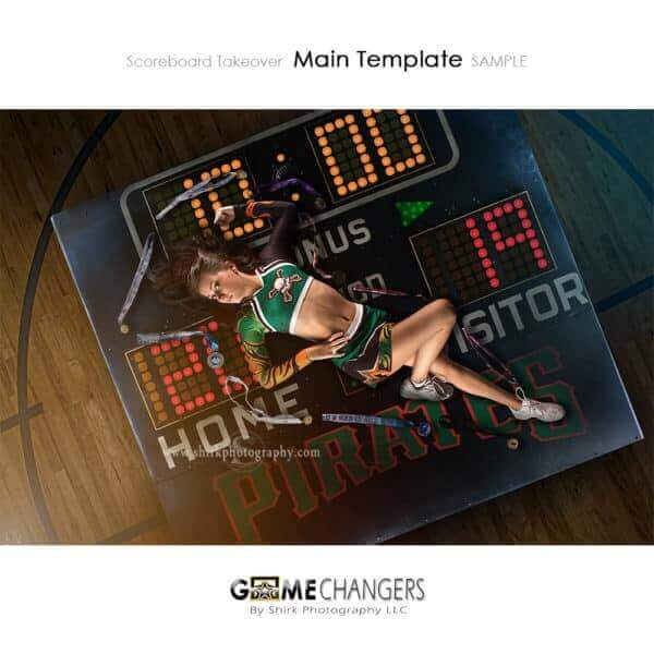 Scoreboard Takeover Cheer Photoshop Template Sports Team Poster Banner Creative Digital Background Ideas Photographers