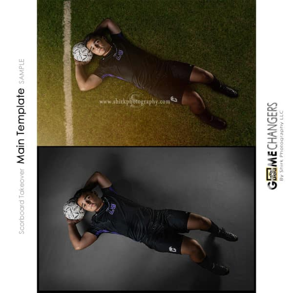 Scoreboard Takeover Soccer Photoshop Template Sports Team Poster Banner Creative Digital Background Ideas Photographers