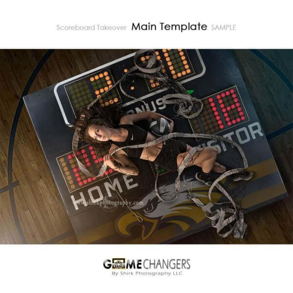 Scoreboard Takeover Volleyball Photoshop Template Sports Team Poster Banner Creative Digital Background Ideas Photographers