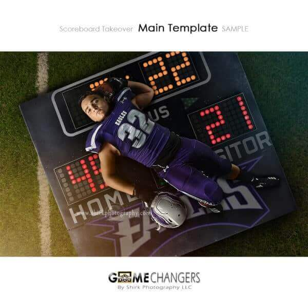 Scoreboard Takeover Football Photoshop Template Sports Team Poster Banner Creative Digital Background Ideas Photographers