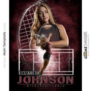MVP Tennis Main Photoshop Template Digital Background Sports Senior Girl Game Changers Shirk Photography