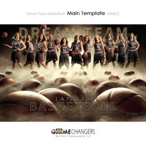 Basketball Sports Team Poster Banner Creative Dream Fog Digital Background Photoshop Template Ideas Photographers