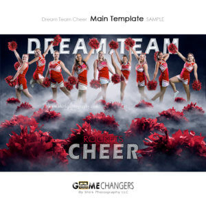 Cheer Pom Sports Team Poster Banner Creative Dream Fog Digital Background Photoshop Template Ideas Photographers