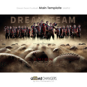 Football Sports Player Senior Banner Portrait Creative Dream Fog Digital Background Photoshop Template Composite Ideas Photographers